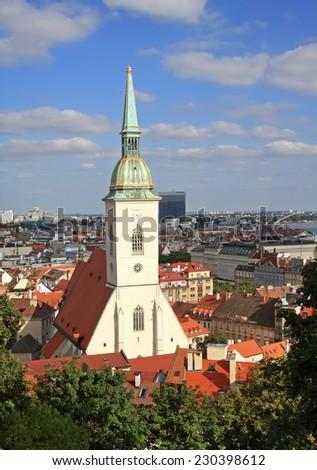 St. Martin's Cathedral in Bratislava - stock photo