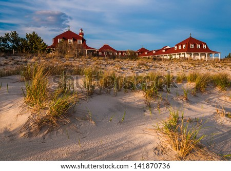 St. Mary by The Sea, in Cape May Point, New Jersey. - stock photo