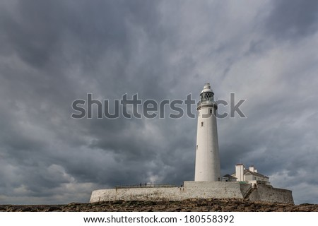 St. Mary's Lighthouse in Whitley Bay, England.
