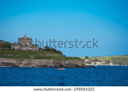 St Mawes Castle on the Roseland Peninsula, Cornwall. - stock photo