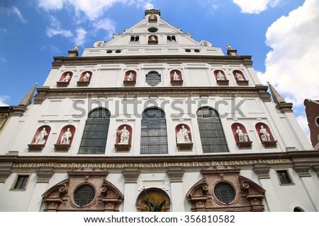 St. Michaelâ??s Church, Neuhauser Strasse in Munich, Germany - stock photo