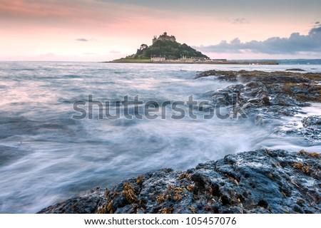 St Michael's Mount, Cornwall, UK - stock photo