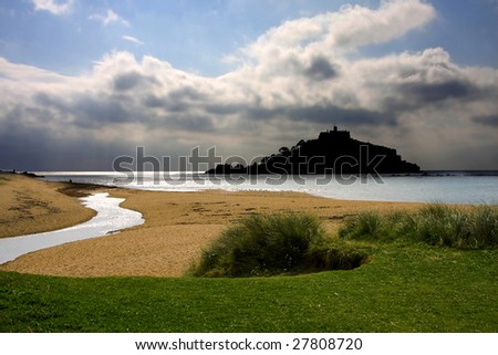st. michael s mount near Penzance, Plymouth - stock photo
