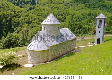 St. Michael The Archangel Monastery on Tara River, Montenegro  - stock photo
