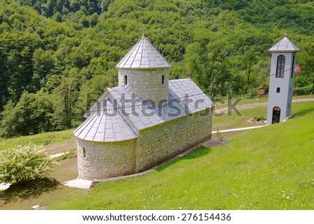 St. Michael The Archangel Monastery on Tara River, Montenegro  - stock photo
