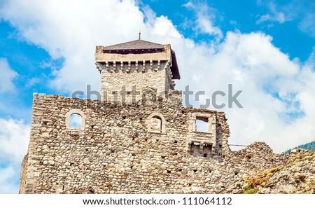 St. Micheal Castle in Ossana, Val di Sole, Trentino Italy - stock photo