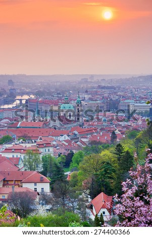 St. Nicholas church, Lesser town, Prague (UNESCO), Czech republic - stock photo