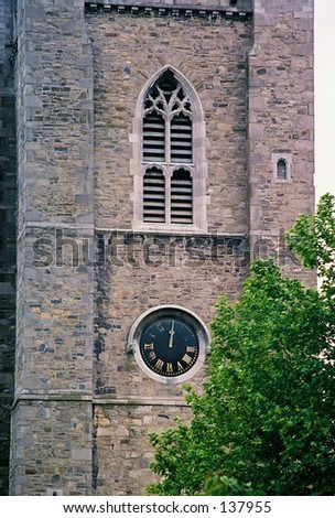 St.Pat's Clock Tower - stock photo