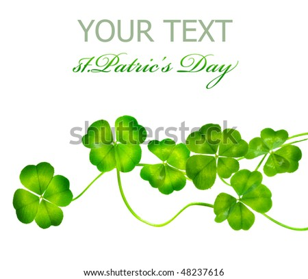 St.Patric's Day border - stock photo