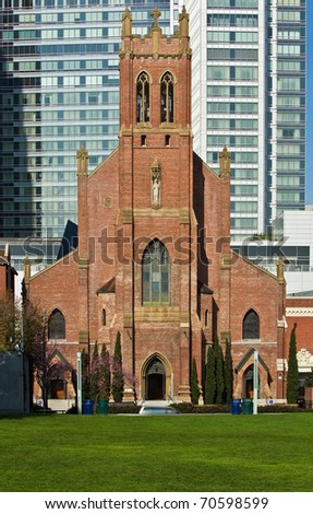 St. Patrick Catholic Church in San Francisco established 1851. - stock photo