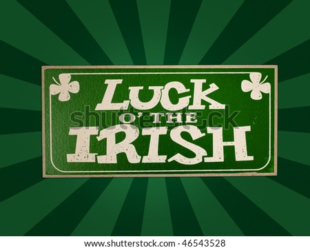 st. patrick luck irish - stock photo