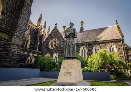 St Patrick's Cathedral - Melbourne , Victoria , Australia - stock photo