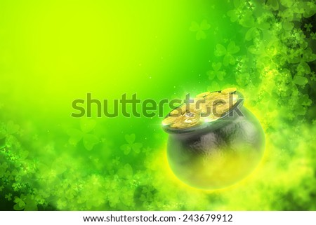 St. Patrick's Day background. - stock photo