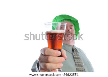 St Patrick's day beer - stock photo
