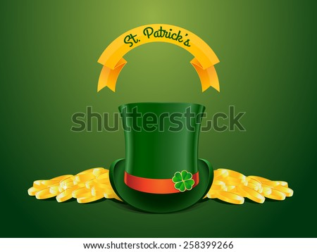 St. Patrick's Day raster illustration - stock photo