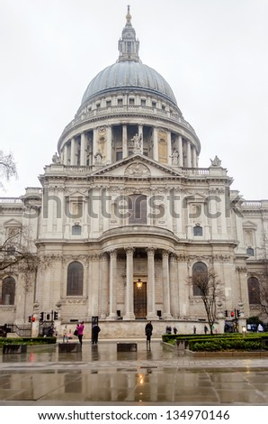 St Paul Cathedral, London, UK - stock photo