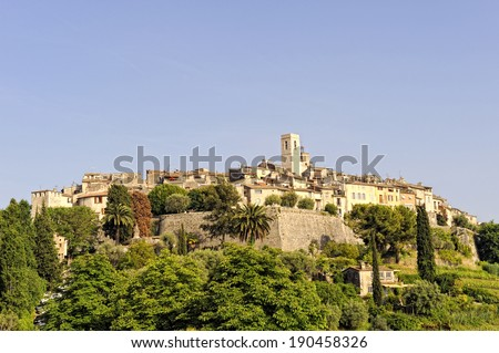 St Paul de Vence, artists mountain village in the South of France - stock photo