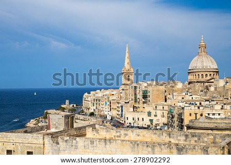 St. Paul's Anglican Cathedral, Malta - stock photo