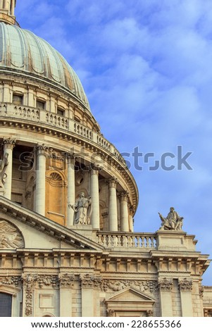 St. Paul's cathedral - detail - stock photo