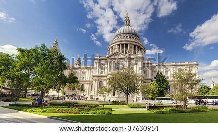 St Paul's Cathedral in London, UK - stock photo