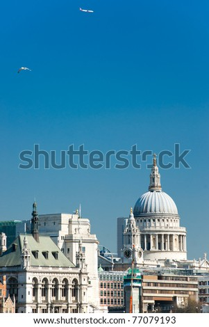 St. Paul's cathedral, London, UK. - stock photo