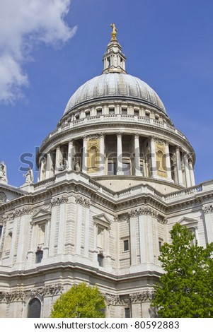 St Paul's Cathedral, London , UK - stock photo