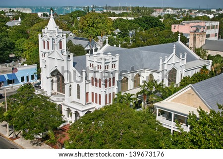 St. Paul's Episcopal Church in Key West, Florida, USA - stock photo