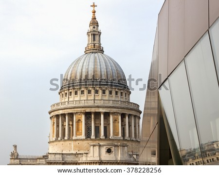 St Pauls Cathedral in London, UK. - stock photo