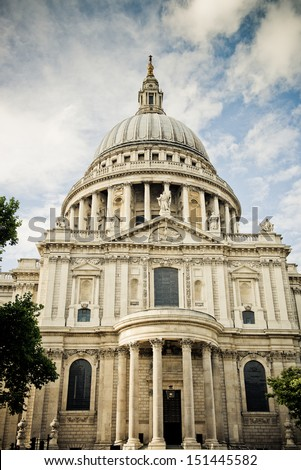 St Pauls Cathedral view in London