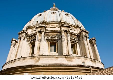 St Peter basilica dome - stock photo