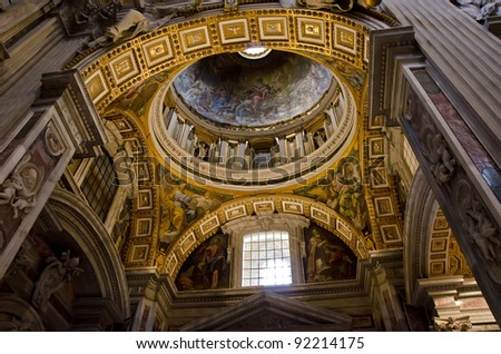 St. Peter Cathedral in Vatican - stock photo