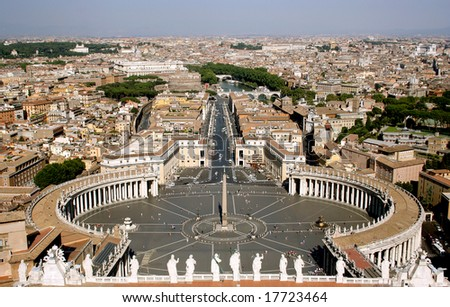 St. Peter's Basilica and square, Vatican, Rome, Italy