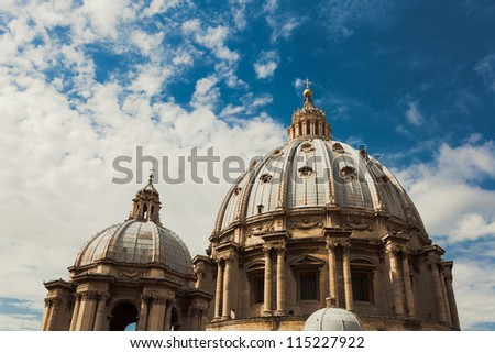 St Peters basilica in Vatican City, Rome Italy - stock photo