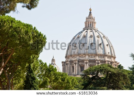 st. peters basilica in vatican rome italy