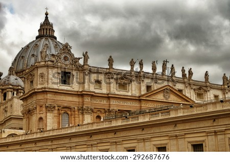 St. Peters Cathedral in Vatican City, Italy - stock photo
