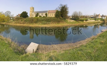 st peters church river avon bidford on avon warwickshire the midlands england uk - stock photo