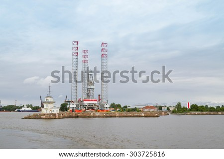 St. Petersburg, Kronshtadt, Russia, July 12, 2015. Docks FORTS on the territory of the city of Kronstadt.