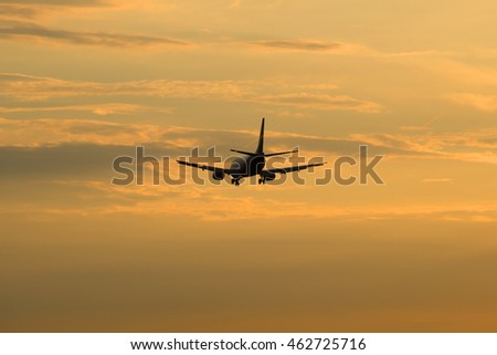 ST. PETERSBURG, RUSSIA - JULY 03, 2016: Boeing 737 (VP-BRG) Nordavia Regional Airlines flies into the evening sky