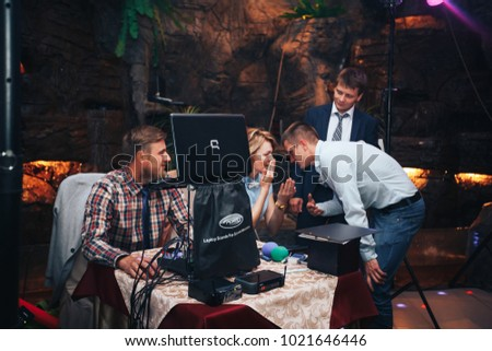 ST PETERSBURG, RUSSIA - JULY 22, 2017: Wedding Event. People and Guests of Newlyweds are Celebrating a Wedding in Restaurant