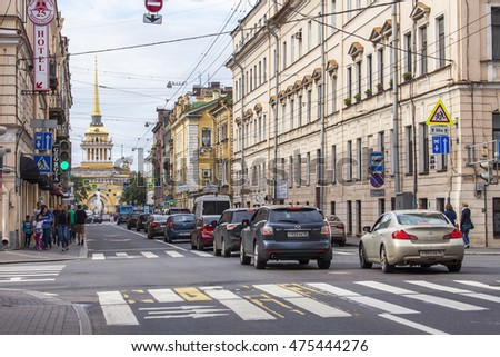 ST. PETERSBURG, RUSSIA, on August 21, 2016. Urban view. Historical architectural complex