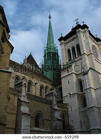 St Piere's Cathedral - stock photo