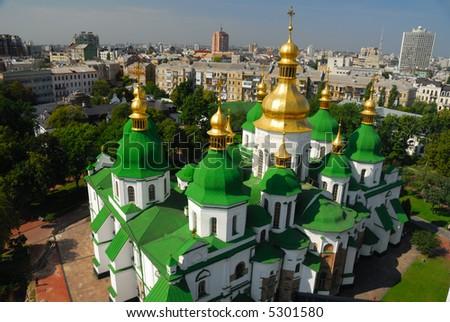 St. Sophia Cathedral  in Kiev, Ukraine - stock photo