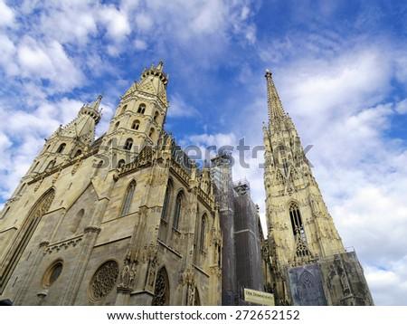 St. Stephan cathedral in Vienna Austria. Landmark architecture details - stock photo