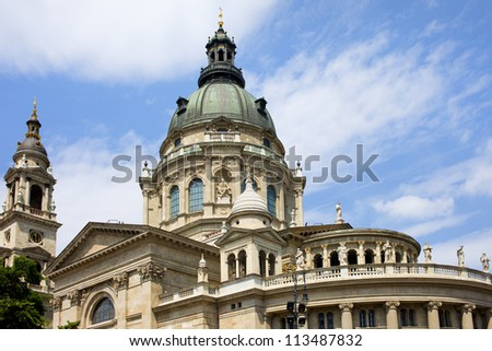 St. Stephen's Basilica in Budapest, Hungary, Neo-Classical architectural style.