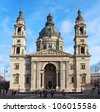 St. Stephen's Basilica, the largest church in Budapest, Hungary - stock photo