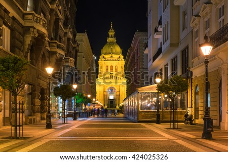 St Stephens Basilica in Budapest Hungary - stock photo