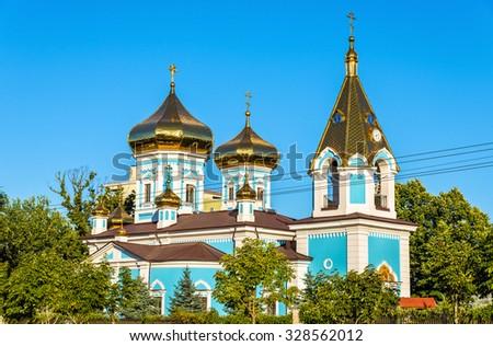 St. Teodor Tiron monastery in Chisinau - Moldova - stock photo