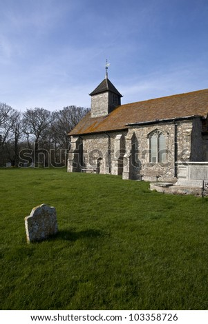 St Thomas the Apostle church on the Isle of Sheppey. - stock photo
