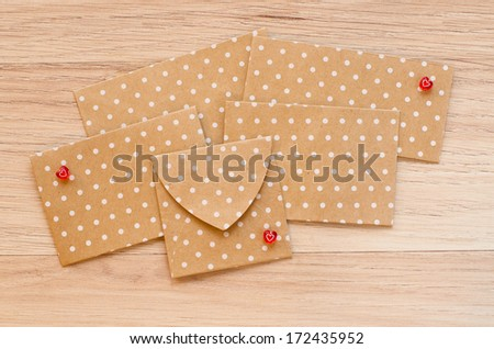 St. Valentine's day envelopes with hearts