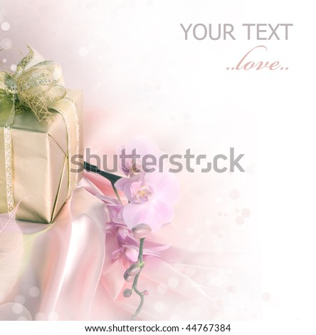 St.Valentine's day or Bridal  gift - stock photo